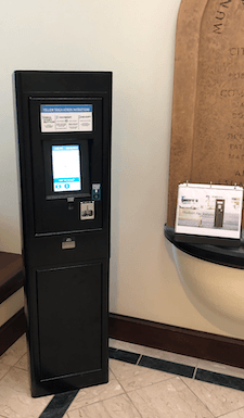Pay Station in City Hall